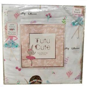 Tutu Cute Whimsical Ballerina TWIN Sheet Set